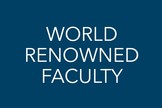 World Renowned Faculty